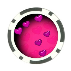 Background Heart Valentine S Day Poker Chip Card Guard (10 Pack)