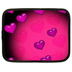 Background Heart Valentine S Day Netbook Case (XXL)