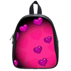 Background Heart Valentine S Day School Bags (small)