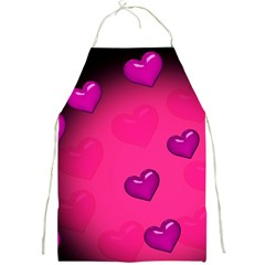 Background Heart Valentine S Day Full Print Aprons