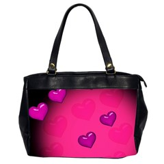 Background Heart Valentine S Day Office Handbags (2 Sides)