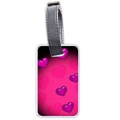 Background Heart Valentine S Day Luggage Tags (two Sides)