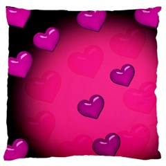 Background Heart Valentine S Day Large Cushion Case (two Sides)