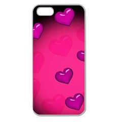 Background Heart Valentine S Day Apple Seamless Iphone 5 Case (clear)