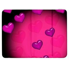 Background Heart Valentine S Day Samsung Galaxy Tab 7  P1000 Flip Case