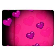 Background Heart Valentine S Day Samsung Galaxy Tab 10.1  P7500 Flip Case