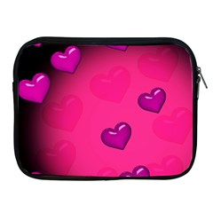 Background Heart Valentine S Day Apple Ipad 2/3/4 Zipper Cases