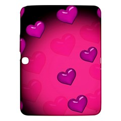 Background Heart Valentine S Day Samsung Galaxy Tab 3 (10.1 ) P5200 Hardshell Case
