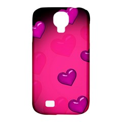 Background Heart Valentine S Day Samsung Galaxy S4 Classic Hardshell Case (PC+Silicone)