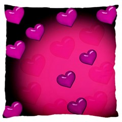 Background Heart Valentine S Day Large Flano Cushion Case (two Sides)
