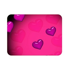 Background Heart Valentine S Day Double Sided Flano Blanket (mini)