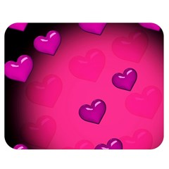 Background Heart Valentine S Day Double Sided Flano Blanket (medium)