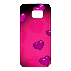 Background Heart Valentine S Day Samsung Galaxy S7 Edge Hardshell Case