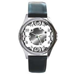 Metal Circle Background Ring Round Metal Watch