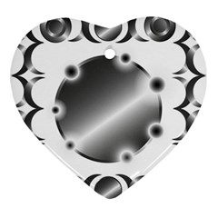 Metal Circle Background Ring Ornament (heart)