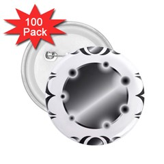 Metal Circle Background Ring 2.25  Buttons (100 pack)