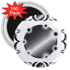 Metal Circle Background Ring 3  Magnets (100 Pack)