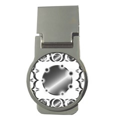 Metal Circle Background Ring Money Clips (Round)