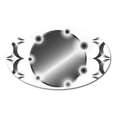 Metal Circle Background Ring Oval Magnet