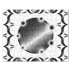 Metal Circle Background Ring Rectangular Jigsaw Puzzl