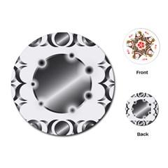 Metal Circle Background Ring Playing Cards (Round)