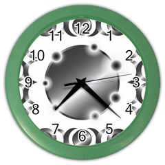 Metal Circle Background Ring Color Wall Clocks