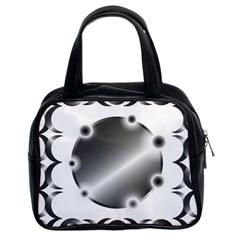 Metal Circle Background Ring Classic Handbags (2 Sides)