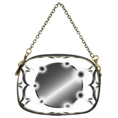 Metal Circle Background Ring Chain Purses (two Sides)