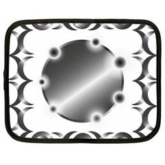 Metal Circle Background Ring Netbook Case (xl)
