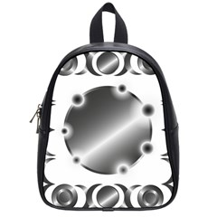 Metal Circle Background Ring School Bags (small)