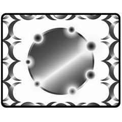 Metal Circle Background Ring Fleece Blanket (medium)