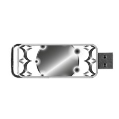 Metal Circle Background Ring Portable Usb Flash (one Side)