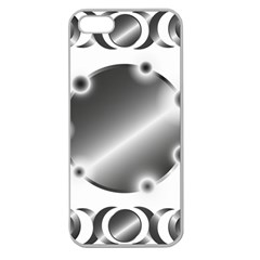 Metal Circle Background Ring Apple Seamless Iphone 5 Case (clear)