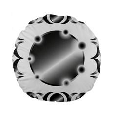 Metal Circle Background Ring Standard 15  Premium Round Cushions