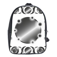 Metal Circle Background Ring School Bags (xl)
