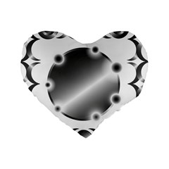 Metal Circle Background Ring Standard 16  Premium Heart Shape Cushions