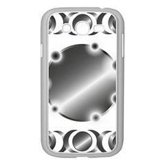 Metal Circle Background Ring Samsung Galaxy Grand DUOS I9082 Case (White)