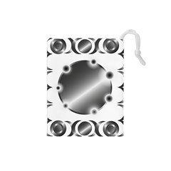 Metal Circle Background Ring Drawstring Pouches (small)