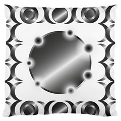 Metal Circle Background Ring Standard Flano Cushion Case (two Sides)