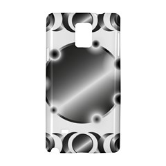 Metal Circle Background Ring Samsung Galaxy Note 4 Hardshell Case