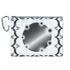 Metal Circle Background Ring Canvas Cosmetic Bag (xl)