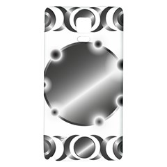 Metal Circle Background Ring Galaxy Note 4 Back Case