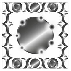 Metal Circle Background Ring Large Satin Scarf (square)