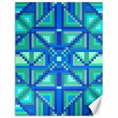 Grid Geometric Pattern Colorful Canvas 12  X 16