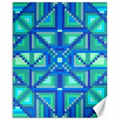 Grid Geometric Pattern Colorful Canvas 16  X 20