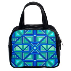 Grid Geometric Pattern Colorful Classic Handbags (2 Sides)