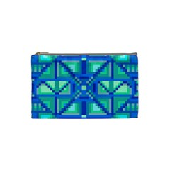 Grid Geometric Pattern Colorful Cosmetic Bag (Small)