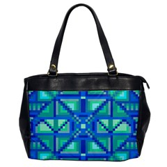 Grid Geometric Pattern Colorful Office Handbags