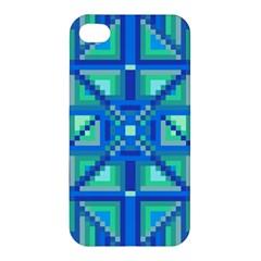 Grid Geometric Pattern Colorful Apple Iphone 4/4s Premium Hardshell Case