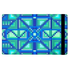 Grid Geometric Pattern Colorful Apple iPad 2 Flip Case